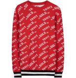 FRANZEL AMSTERDAM : in gold we trust fak-001 knit wear sweater – rood