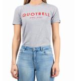 Quotrell Ladies tee logo brand t-shirt – grijs/rood