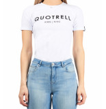 Quotrell Ladies tee logo brand t-shirt – wit/zwart