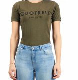 Quotrell Ladies tee brand t-shirt – army/zwart
