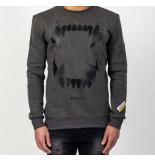 Explicit  Xpl-1811-04 teeths sweater – grijs