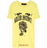 FRANZEL AMSTERDAM : in gold we trust fa-070 killer instinct front t-shirt - geel