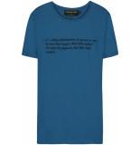 FRANZEL AMSTERDAM : in gold we trust fa-071 killer instinct back t-shirt blauw