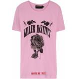 FRANZEL AMSTERDAM : in gold we trust fa-070 killer instinct front t-shirt roze