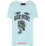 FRANZEL AMSTERDAM : in gold we trust fa-070 killer instinct front t-shirt lichtblauw licht blauw