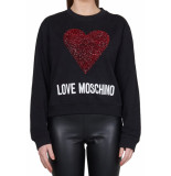 Love Moschino Love moschino wide fit sweater – zwart
