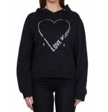 Love Moschino Love moschino heart sweater – zwart