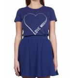 Love Moschino Love moschino heart tee – blauw