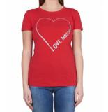 Love Moschino Love moschino heart tee – rood