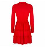 Wanderlust Amsterdam oase jurk - rood