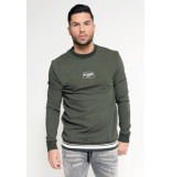 My Brand Badge sweater groen army
