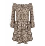 Jacky Luxury Off shoulder jurk beige