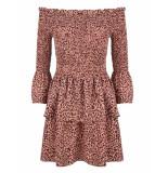 Jacky Luxury Off shoulder jurk - roze