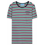 FRANZEL AMSTERDAM : in gold we trust fa-076 t-shirt roze/groen