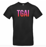 The Girl and Ibiza Tgai rainbow t-shirt – zwart