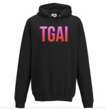 The Girl and Ibiza Tgai rainbow hoodie - zwart
