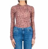 Jacky Luxury Mesh top leopard roze