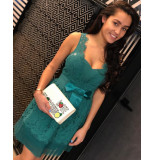 Relish Dress romance jurk - groen
