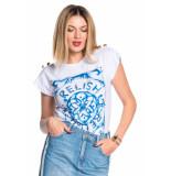 Relish T-shirt petro - wit