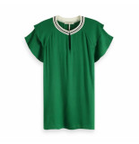 Maison Scotch Rayan top with sporty rib groen
