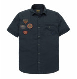 PME Legend Short sleeve shirt cargo twill f salute psis192241 rood