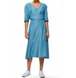 Selected Femme Slfmarla 7/8 dress light blue blauw