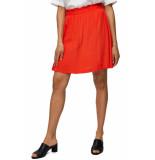 Selected Femme Slfbisma mw skirt cherry tomato rood
