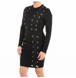 Jacky Luxury Dress lace detail zwart