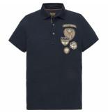 PME Legend Ppss193854 5287 short sleeve polo rugged pique dark sapphire blauw