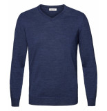 Michaelis Pullover wol/acryl blauw