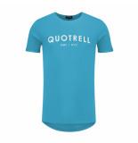 Quotrell T-shirt logo blauw/wit