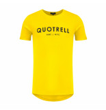 Quotrell T-shirt logo geel/zwart
