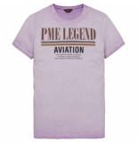 PME Legend Short sleeve r-neck single jersey viola paars