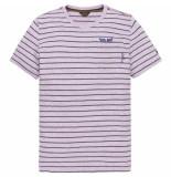 PME Legend Short sleeve r-neck yd stripes viola paars