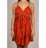 By Pixie Bibi jurk oranje bruin