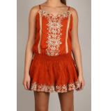 By Pixie Mirror jurk oranje bruin
