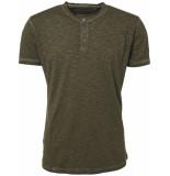 No Excess T-shirt s/sl, granddad, inside cold dk army groen