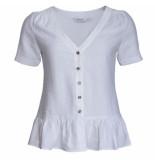 Sparkz Taila blouse korte mouw offwhite ecru