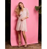 10 Feet Sheer dress all over schiffli embroidery blossom roze