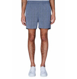 PLAIN Turi twist navy melange shorts blauw