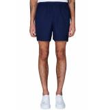PLAIN Turi navy paco shorts blauw