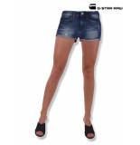 G-Star Ripped 3301 short dames denim