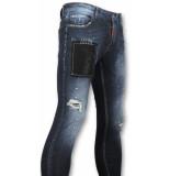 Addict Spijkerbroek met verfvlekken blauw