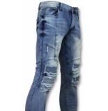 New Stone Skinny biker jeans heren blauw