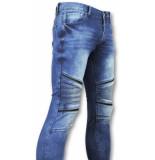 New Stone Strakke heren jeans blauw