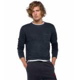 Replay T-shirts lange mouw 129032 zwart