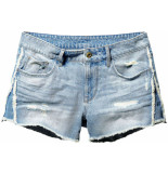 G-Star 3301 fringe mid bf short denim