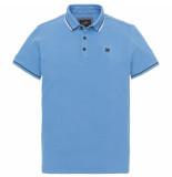 Vanguard Vpss194692 5068 short sleeve polo pique stretch blue blauw
