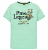PME Legend Ptss194532 6097 short sleeve r-neck play lw tshirt opal groen
