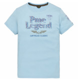 PME Legend Ptss194532 5155 short sleeve r-neck play lw tshirt sky blue blauw